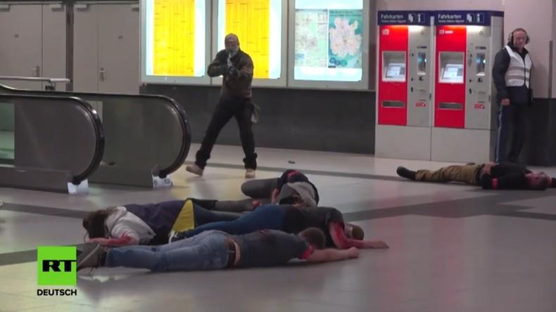Großaufgebot am Nürnberger Bahnhof: Polizei übt Anti-Terror-Einsatz