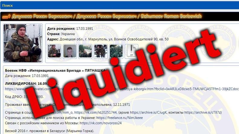 UN-Vertretung in der Ukraine fordert sofortige Löschung der Webseite mit Feindesliste
