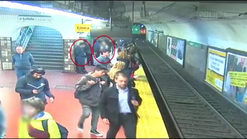 Argentinien: Frau entkommt nach Sturz auf U-Bahn-Gleise knapp dem Tod