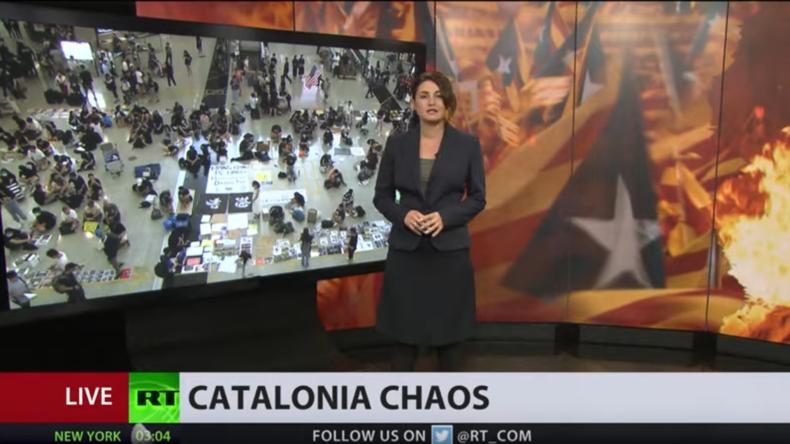 Proteste in Barcelona: Was verbindet Katalonien mit Hongkong? (Video)