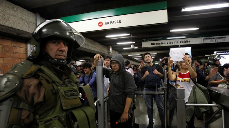 Ausnahmezustand nach Unruhen wegen Fahrpreis-Erhöhungen in Santiago de Chile