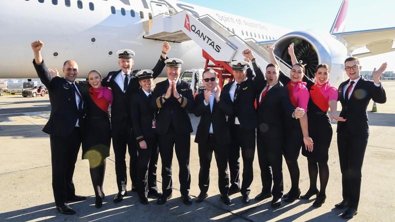 In 19 Stunden von New York nach Sydney: Qantas absolviert längsten Nonstop-Passagierflug