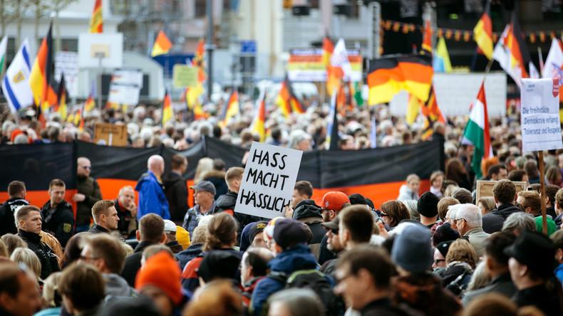 LIVE: Proteste zum 5. Geburtstag von Pegida in Dresden
