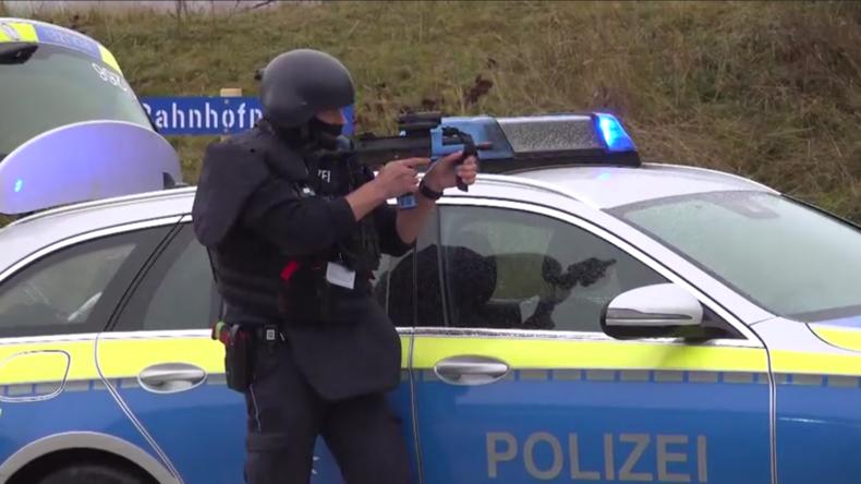 Anti-Terror-Übung in Stetten am kalten Markt
