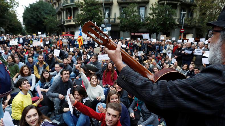 LIVE: Barcelona – Pro-Unabhängigkeitsprotest gegen Sanchez-Besuch