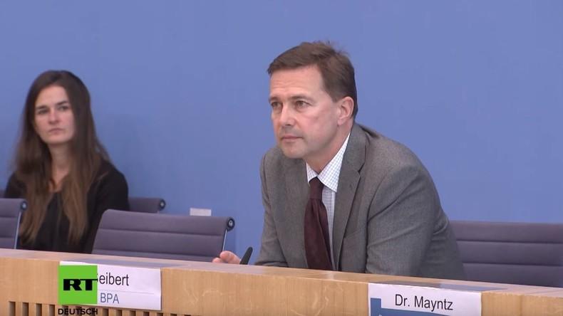 Regierungssprecher zu Katalonien: Innenpolitische Vorgänge kommentiere ich nicht, außer bei Russland
