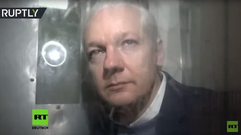 RT-Exklusiv: Aufnahmen von Assange kurz vor Gerichtstermin in London