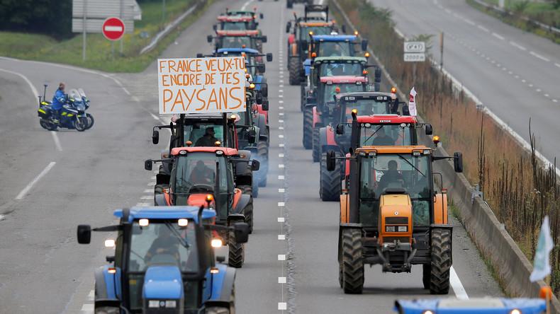 """Bauernproteste auch in Frankreich: Gegen """"Agribashing"""" und Freihandelsabkommen"""