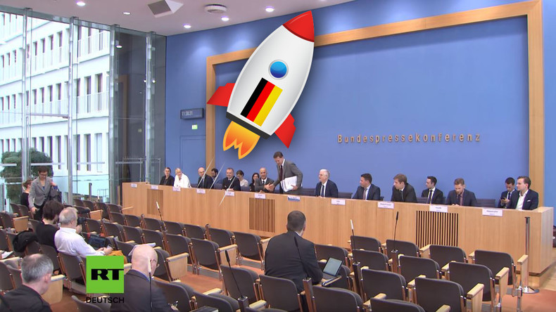 Halbe Welt brennt – doch BPK-Journalisten kennen fast nur ein Thema: Deutschlands Weltraumbahnhof