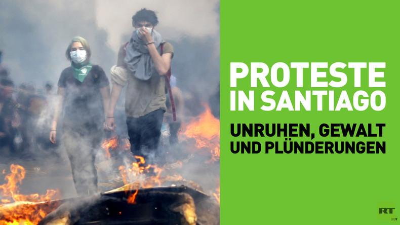 Proteste in Santiago: Unruhen, Gewalt und Plünderungen