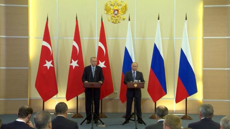 """Putin nach Gesprächen mit Erdoğan: """"Alle illegalen ausländischen Militärs müssen raus aus Syrien"""""""