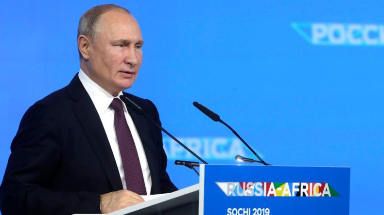 """Putin zufrieden mit Handelsentwicklungen mit Afrika: """"Agrarhandel schon viel höher als Waffenexport"""""""