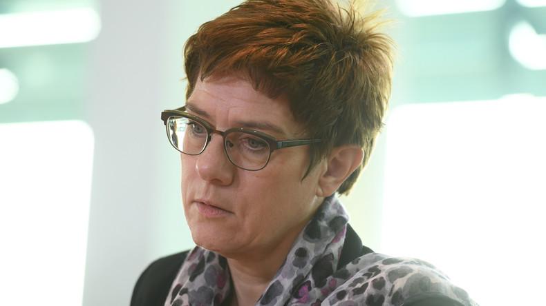 Wirbel um Annexion-Aussage – Kramp-Karrenbauer in der Kritik