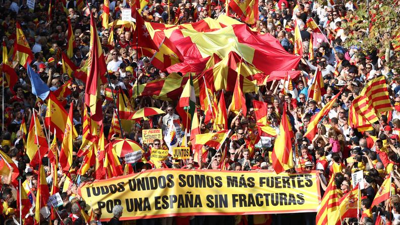 LIVE: Anti-Unabhängigkeitsproteste in Barcelona