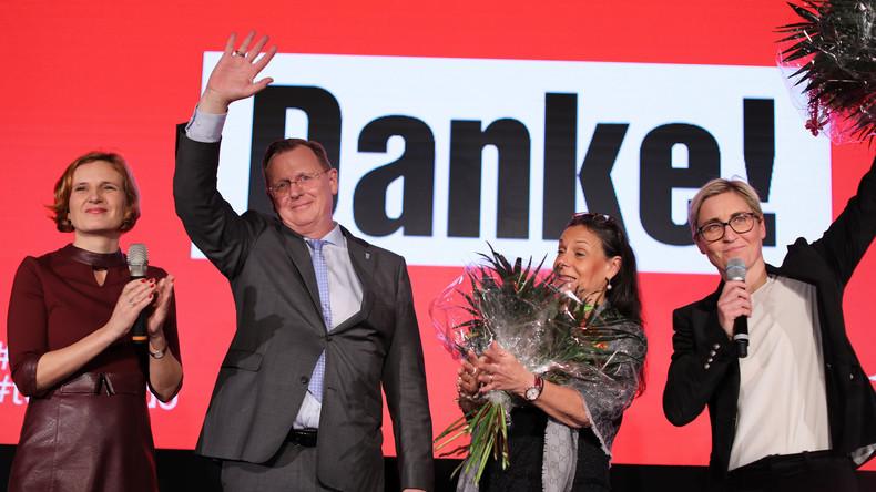 Linken-Chefin Katja Kipping zum Wahlsieg ihrer Partei in Thüringen (Video)