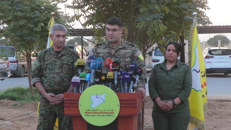 """SDF-Sprecher: """"Baghdadi-Operation führten wir mit, und er lebte in Gebiet der türkischen Armee"""""""