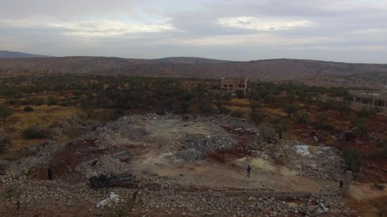 Syrien: Dem Erdboden gleichgemacht – Drohne filmt Baghdadis Haus nach US-Angriff