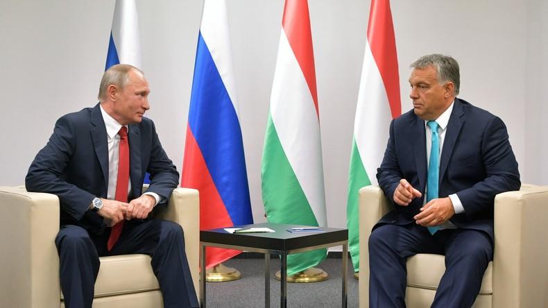 LIVE: Pressekonferenz von Wladimir Putin und Viktor Orbán nach Gesprächen in Budapest (auf Deutsch)