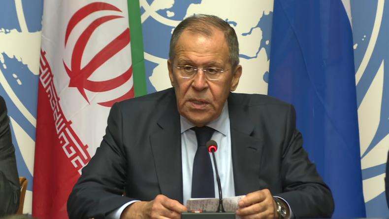 """Lawrow in Genf: """"Stationierung von US-Truppen um Syriens Ölfelder ist illegal"""""""