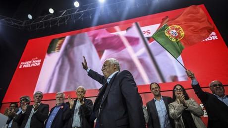 Der portugiesische Ministerpräsident António Costa bei einer Wahlkampfkundgebung  seiner Sozialistischen Partei in Lissabon am 24. September 2019