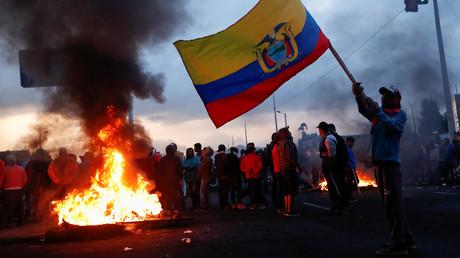 Ausnahmezustand in Ecuador, nachdem Präsident Lenín Moreno am 2. Oktober ankündigte, die mit dem Internationalen Währungsfonds (IWF) vereinbarten Maßnahmen umzusetzen.