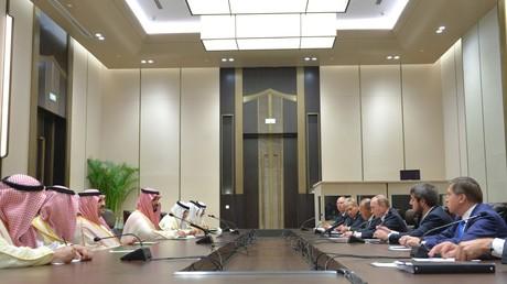 Der russische Präsident Wladimir Putin und der saudische Kronprinz Mohammed bin Salman Al Saud bei einem Treffen im Jahr 2016.