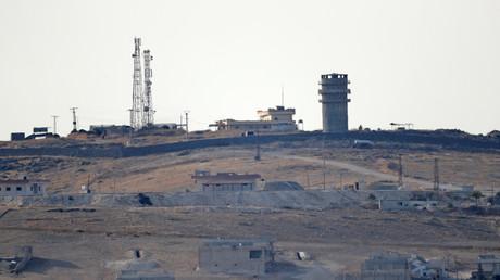 Von den US-Truppen aufgegebener Beobachtungsposten in Nordsyrien am Montag
