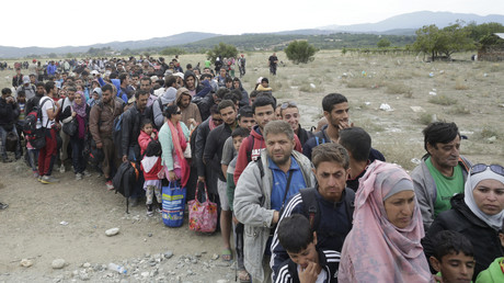 Symbolbild: Flüchtlinge nahe Gevgelija, Mazedonien, 7. September 2015.