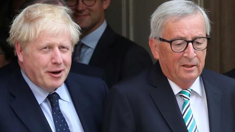 Johnson und Juncker bei einem Treffen in Luxemburg im September