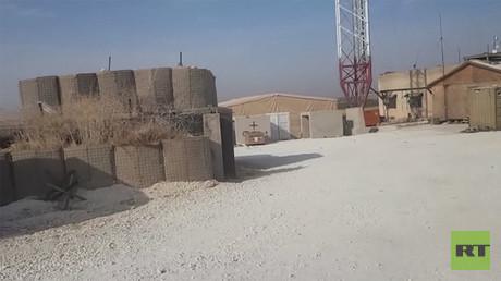 Aufnahmen aus dem Inneren der verlassenen US-Basis bei Manbidsch.