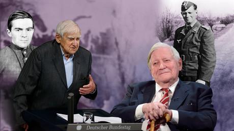 Die Kriegsteilnehmer Daniil Granin (links) und Helmut Schmidt.