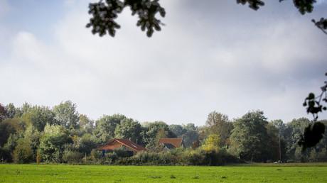 Der Hof im Dorf Ruinerwold in der Provinz Drenthe