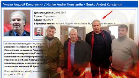 Der Eintrag zu Andrej Hunko auf der Webseite