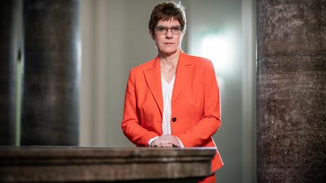 Die deutsche Verteidigungsministerin Annegret Kramp-Karrenbauer am 21. Oktober während des dpa-Interviews