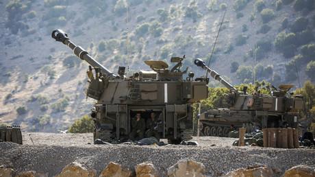 Israelische Haubitzen in den annektierten Golanhöhen zielen auf syrisches Staatsgebiet (Bild vom 25. August).