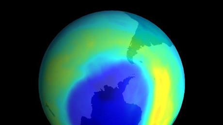 Ozonloch über der Antarktis, 8. September 2000.