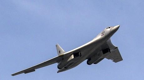 Die Schwäne sind gelandet: Zwei russische Tu-160-Langstreckenbomber erstmals in Südafrika (Archivbild: Kasan, Republik Tatarstan, Russland, 10. August 2018. Ein Langstreckenbomber Tupolew Tu-160 auf der Flugschau