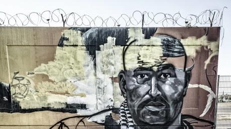 Graffito zu Ehren des Kriminellen Nidal R. im September 2018 in Berlin