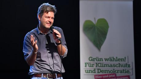 Grünen-Chef Robert Habeck konnte während des Wahlkampfs noch auf ein besseres Ergebnis für seine Partei als im Jahr 2014 hoffen.