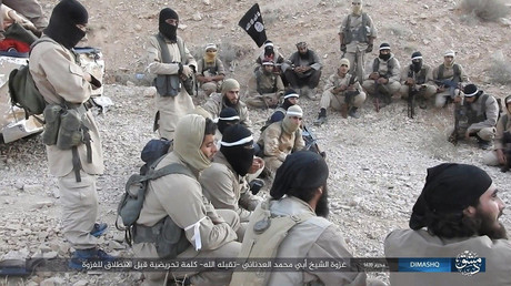 Kämpfer der Terrororganisation IS, Al-Qaryatayn, Syrien, 10. Oktober 2017.