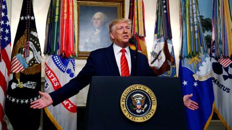 Donald Trump verkündet am Sonntag in einem Statement im Weißen Haus, dass IS-Führer al-Baghdadi vom US-Militär getötet wurde.