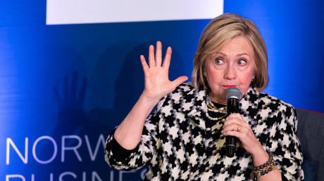 Von Gott gesandt? Hillary Clinton im März 2019 in Oslo