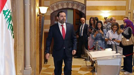 Ministerpräsident Saad Hariri kurz vor der Rücktrittserklärung am 29. Oktober in Beirut.