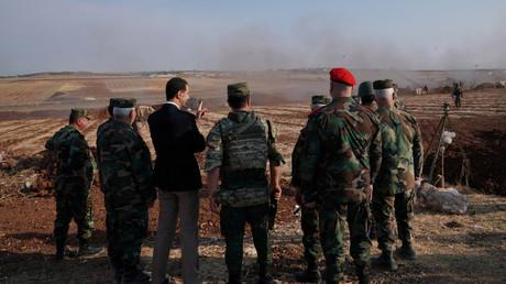 Syriens Präsident Baschar al-Assad beim Frontbesuch in Idlib. Die Provinz ist die letzte verbliebene Hochburg islamistischer Terrorgruppen in Syrien.