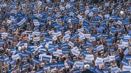 Dreißig Jahre nach Ende des Kalten Krieges kann sich eine Mehrheit der jungen Amerikaner vorstellen, einen sozialistischen Kandidaten wie beispielsweise Bernie Sanders zu wählen (New York, 19. Oktober 2019).