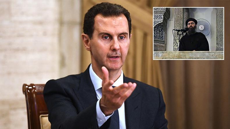 """""""Tricks der Amerikaner"""": Assad zweifelt am Tod al-Baghdadis und zieht Parallelen zu Bin Laden"""