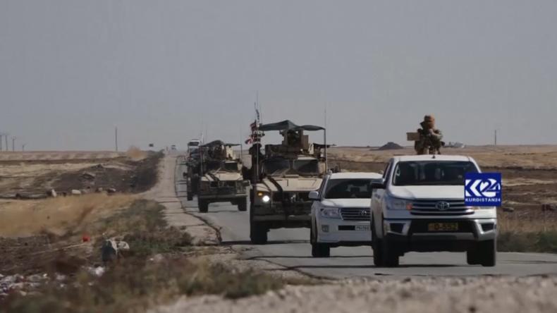US-Spezialeinheiten und kurdische Kämpfer patrouillieren nahe Ölanlagen im Norden Syriens