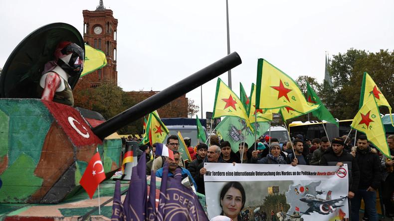 LIVE: Kurdische Großdemonstration in Berlin gegen türkische Offensive in Syrien