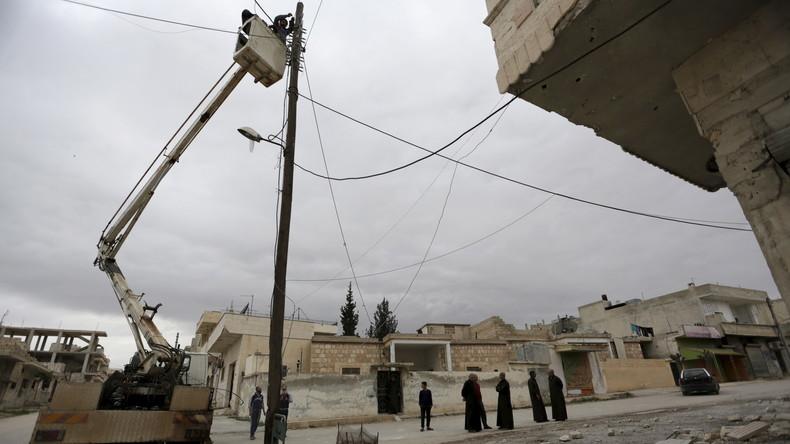 Syrien: Iran will Energieversorgungsnetz neu aufbauen