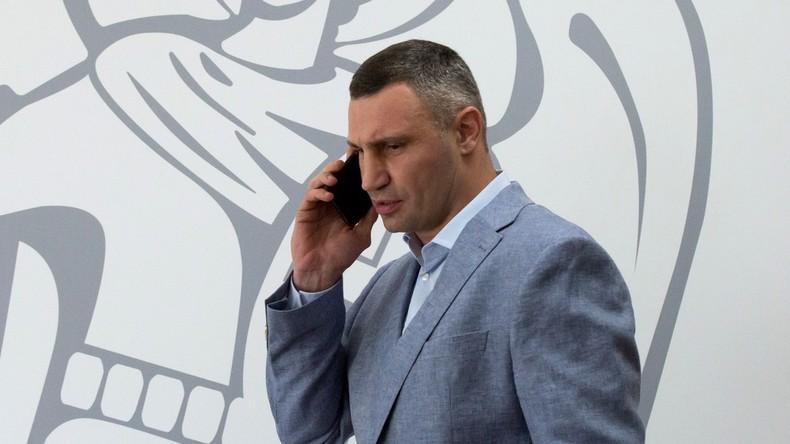 Ukraine: Kiews Bürgermeister Vitali Klitschko des Verrats und der Veruntreuung bezichtigt